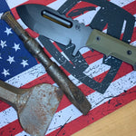 Medford Knife & Tool Sea Wolf S D2 PVD Blade OD Green G10 Handle OD Green Kydex Sheath PVD Hardware