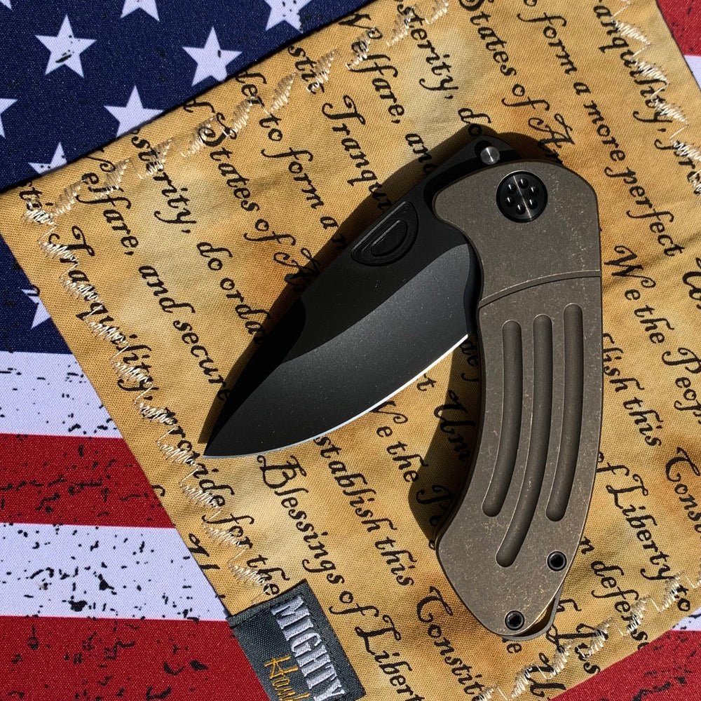 Medford Theseus - S35VN PVD Blade Tumbled Handles PVD Hardware Clip Breaker