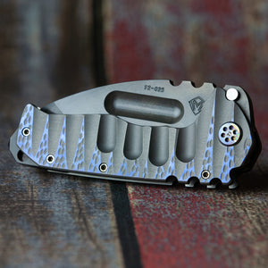 Medford Praetorian Ti S35VN Vulcan Blade Finish Tanto Grind ANO MD Handle ANO MD Spring Ti Flamed Hardware