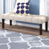 Almaraz Upholstered Bench By Three Posts