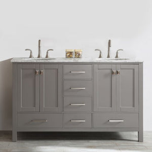 "Newtown 60"" Double Bathroom Vanity Set By Beachcrest Home"