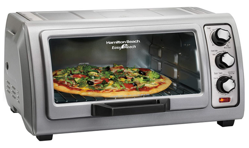 Hamilton Beach Easy Reach 1400 W 6-Slice Grey Toaster Oven with Roll Top Door - Prolific Compass