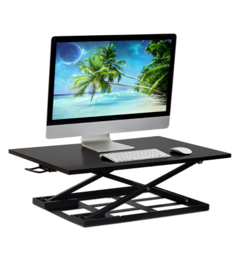 Mount-It! Standing Desk Converter, Height Adjustable Sit Stand Des (Black). MI-7929. - Prolific Compass
