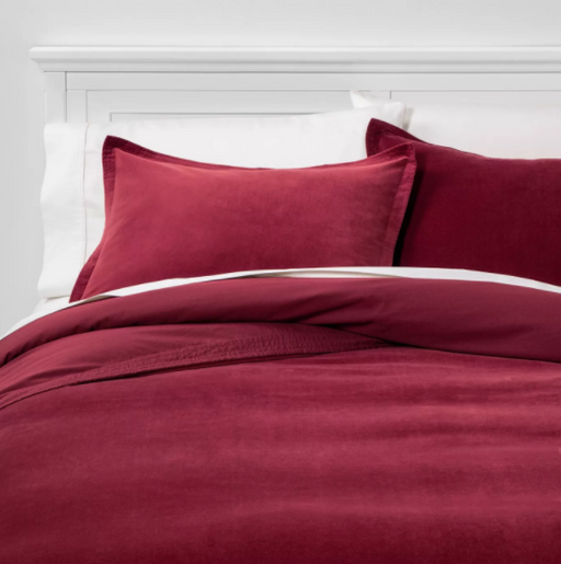 Solid Velvet Duvet Cover & Sham Set - Threshold™, Full/Queen - Prolific Compass