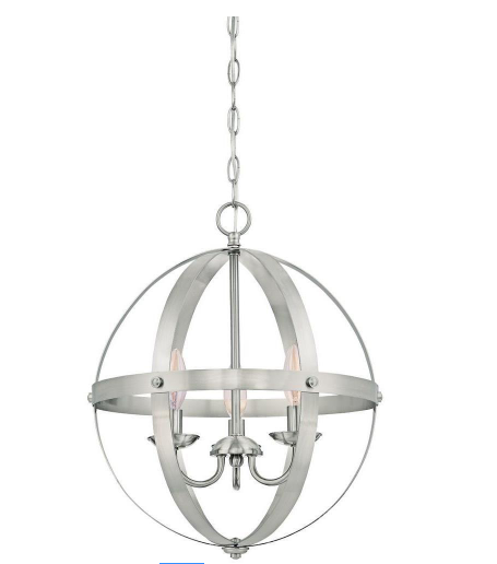 Stella Mira 3-Light Brushed Nickel Pendant by Westinghouse - Prolific Compass