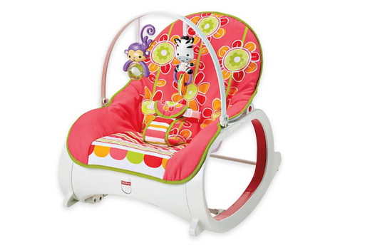 Fisher-Price Infant-to-Toddler Rocker - Floral Confetti - Prolific Compass