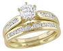 Sofia B 18K Yellow Gold Over Sterling Silver CZ Bridal Set size 6 - Prolific Compass