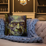Mad Monster Lady Throw Pillow