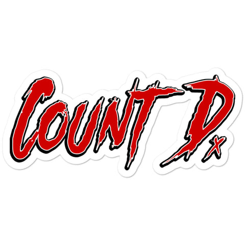 Count D. Logo Sticker