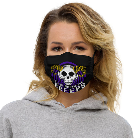 All My Friends Are Creeps - Logo Face mask