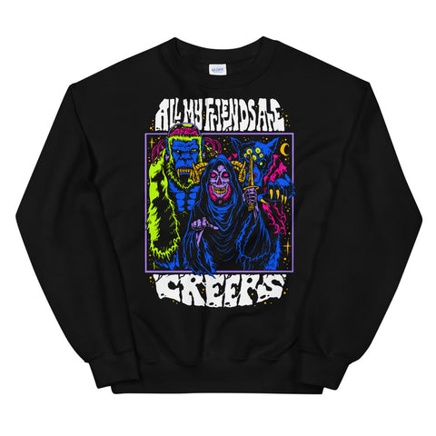All My Friends Are Creeps Space Sweatshirt