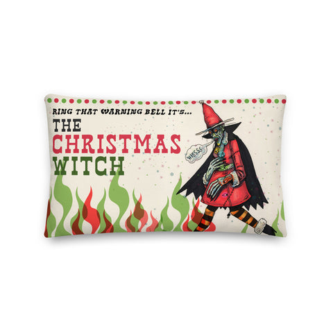 The Christmas Witch Pillow