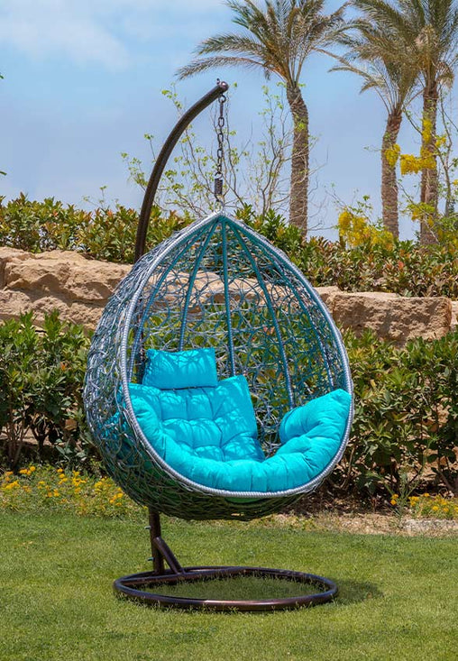 أرجوحة سيركل راتان - kabbanifurniture