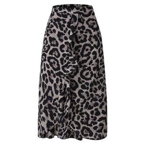 Midi Wrap Animal Print Skirt