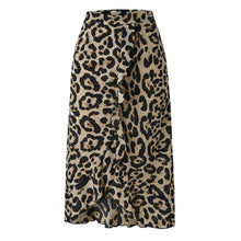 Load image into Gallery viewer, Midi Wrap Animal Print Skirt