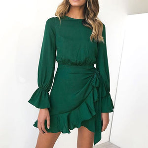 Amy Wrap Ruffle Dress