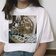 Load image into Gallery viewer, Cat Paintings T-Shirt Series
