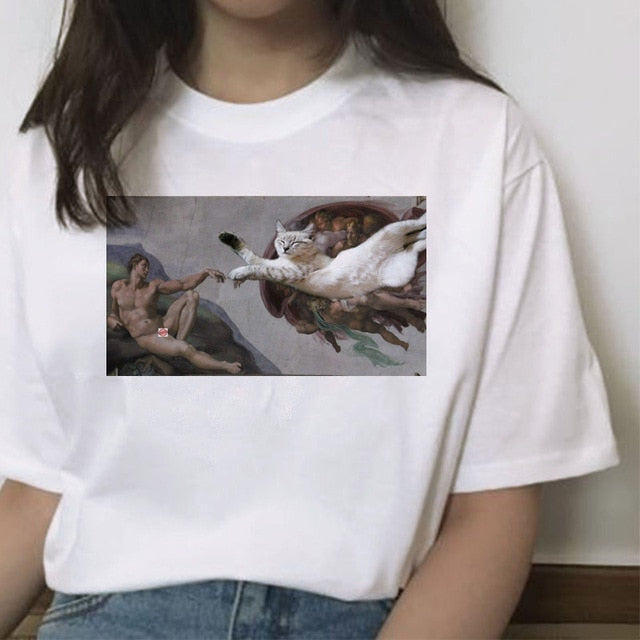 Cat Paintings T-Shirt Series