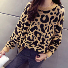Load image into Gallery viewer, Leopard Print Knitted Sweater