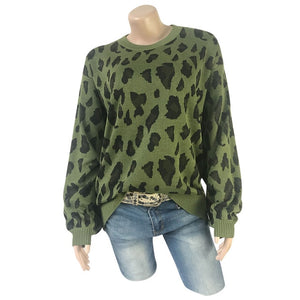 Be Fierce Leopard Printed Knit