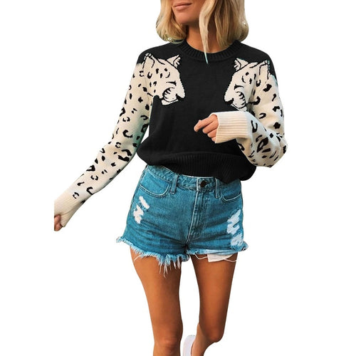 Wild Love Tiger Printed Sweater