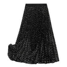 Load image into Gallery viewer, Dot Pleated Midi Skirt