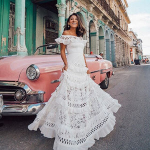 Havana Boho Ruffle Maxi Dress