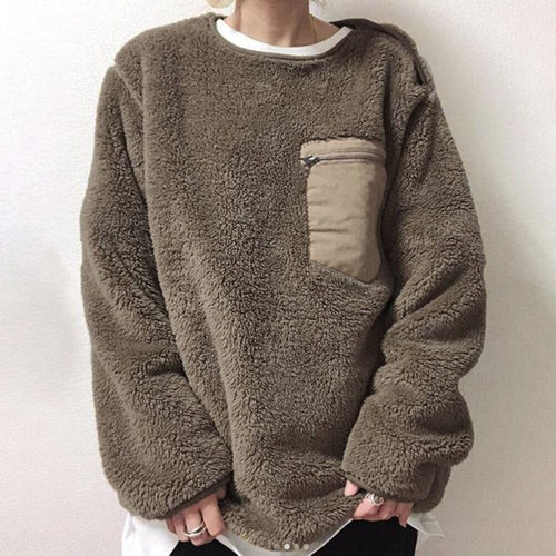 Teddy Pocket Sweatshirt