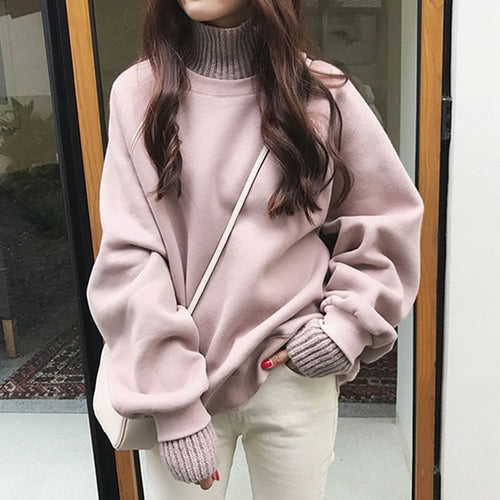 Warm Hug Turtleneck Sweatshirt