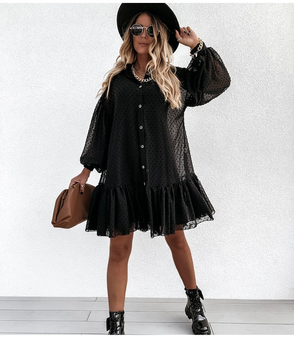 Francesca Ruffle Dress