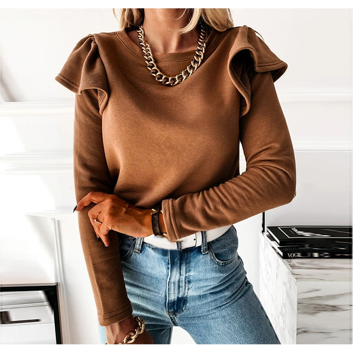 Camille Ruffle Long Sleeve