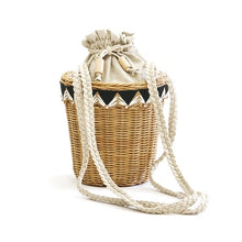Load image into Gallery viewer, Lana Rattan Bucket Bag