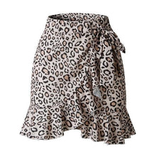 Load image into Gallery viewer, Printed Wrap Mini Skirt - Dots & Animal Print