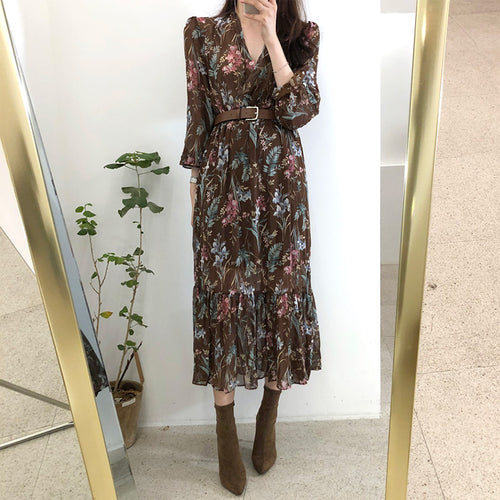 Romance is Alive Floral Print Dress