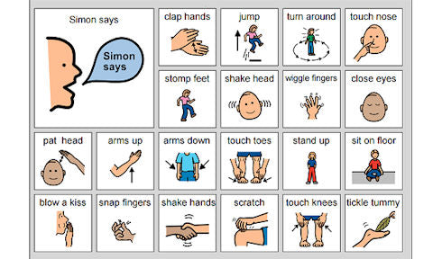 at-home activity exercise simon says