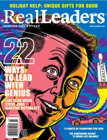 real leaders magazine winter 2019 featuring sportport