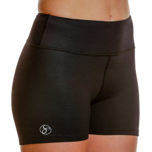 Athletic Compression Workout Shorts - Short-Length - blk/blk