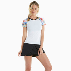 London Bridge Athletic Stretch Tee Shirt - wht/lon/blk