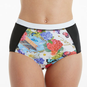 London Bridge Tri-Sport Swim, Run & Under Sportswear Brief Bottoms - blk/lon