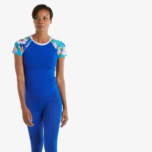 Monet Athletic Stretch Tee Shirt - blu/mon/pnkl