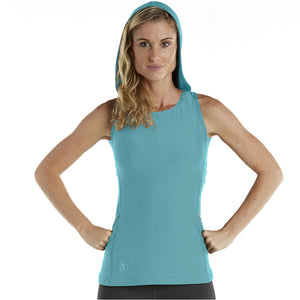 Sleeveless Backless Hoodie Tank Top - turqd