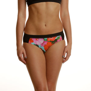 Hibiscus Tri-Sport Swim, Run & Under Sportswear Kini Bottoms - blk/hib