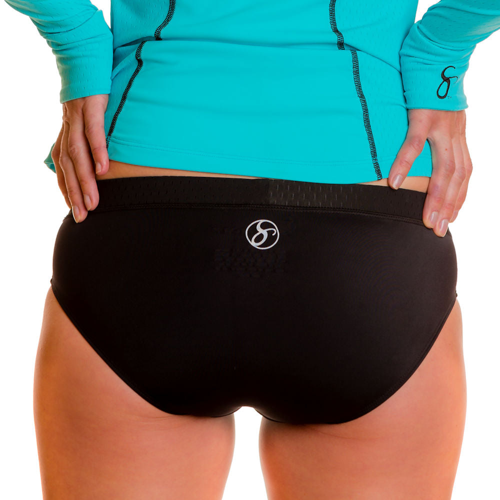 Tri-Sport Swim, Run & Under Sportswear Kini Bottoms - blk/turq