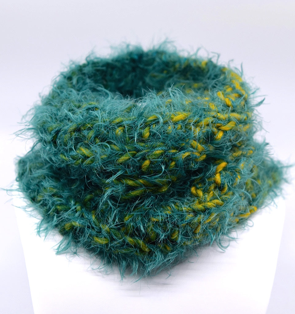 Mossy Cozy Snood Cowl Neck Scarf