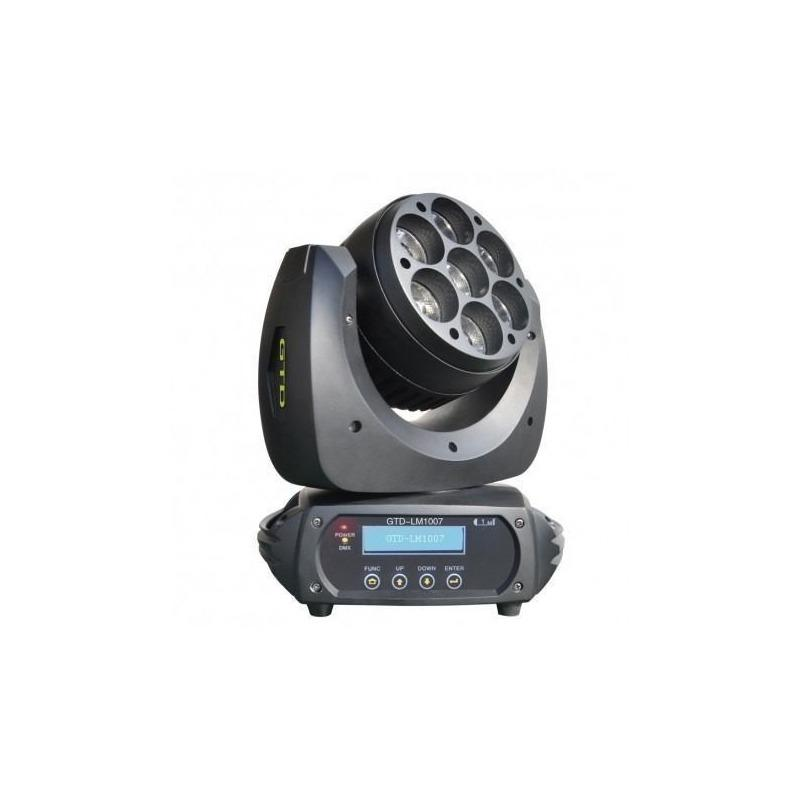 Cabezal Movil Led Gtd-lm1007 Osram Led 10w X 7u-Audio Rocks