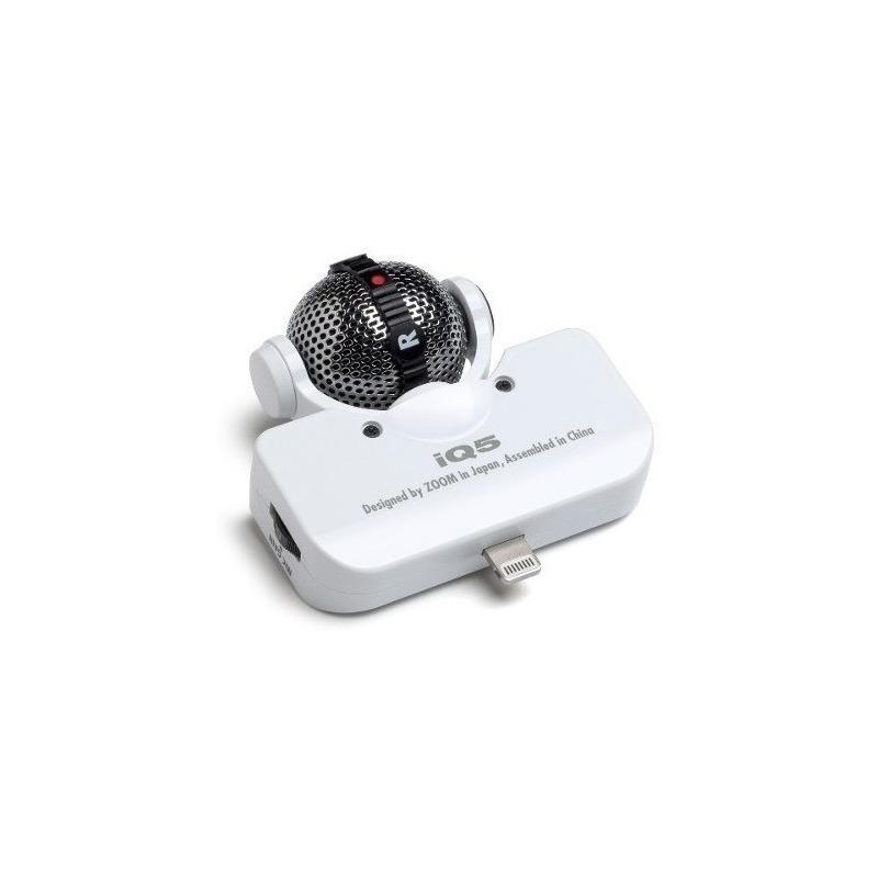 Microfono Profesional Zoom Lq5 Para iPhone iPad iPod Blanco-Audio Rocks