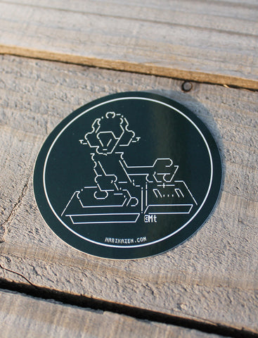 No Plate Unturned <br>ø 70mm Sticker