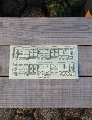 SL Silver Arrow <br>105x210mm Sketch Sticker