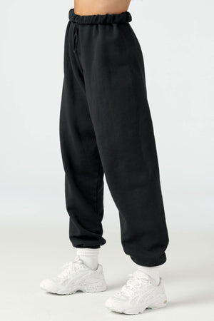 Lace Trim Tank style Oversized Jogger