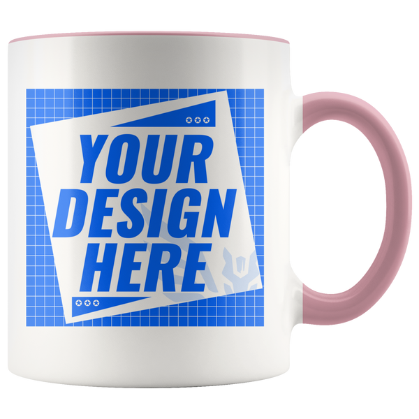 CUSTOMIZER: Upload your own image via MULTI-COLOR MUG (15oz) (7+ Colors)